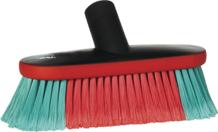 Vikan Vehicle Brush, waterfed, 230 mm, Soft/split, Black